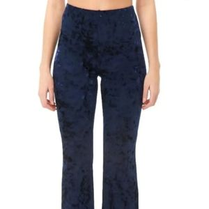 NWT Crushed Velvet Flare Pants Large